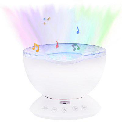 2W Ocean Wave Projector Sleep LED Night Light