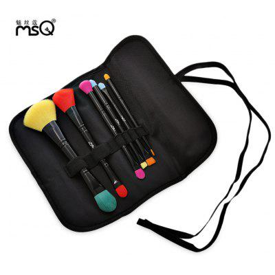 MSQ 6pcs Double-end Makeup Brushes Set with Storage Bag