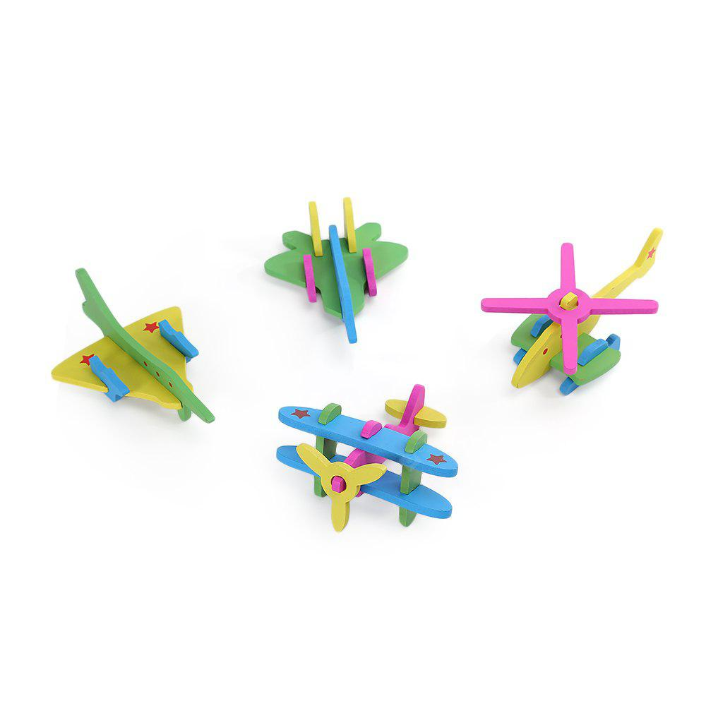 DIY 3D Plane Wooden Building Block Educational Jigsaw Toy