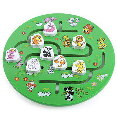 Wooden Animal Match Game Educational Puzzle Toy