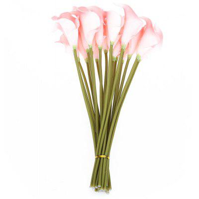 20pcs Artificial PU Calla Lily Flower Bouquet for Wedding Party