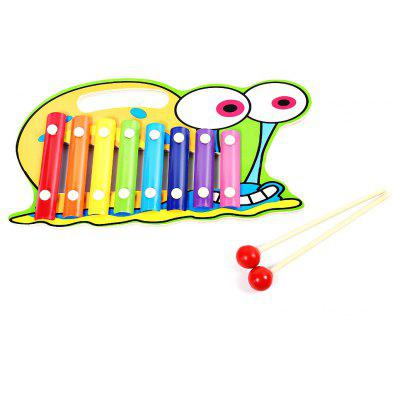 Qiaomujiang Kids Wooden 8 Tones Hand Knock Piano