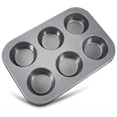 6 Cups Non-stick Steel Muffin Cupcake Pan Mold