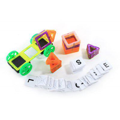 Mocai 64pcs Children 3D Bricks Magnetic Building Blocks