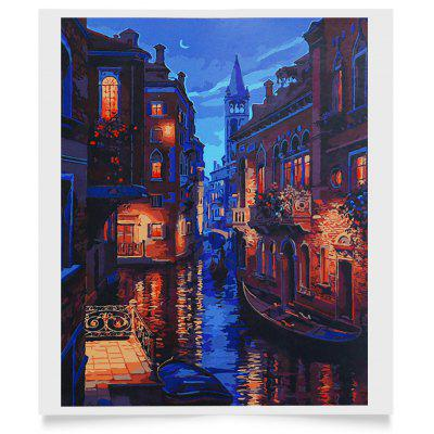 Buy Venice Night Scenery DIY Digital Oil Painting Wall Decor, COLORMIX, Home & Garden, Home Decors, Wall Art, Oil Paintings for $7.22 in GearBest store