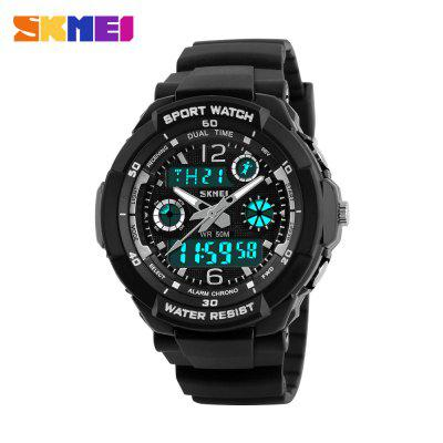 Skmei 1060 LED Sports Watch with Double Japan Movts Waterproof Design and Plastic Watch Band магнитный велетренажер вк 1060 киев