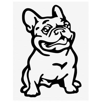Reflective Bulldog Pattern Car Sticker