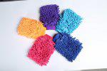 Microfiber Dual-sided Car Wash Mitt - RANDOM COLOR
