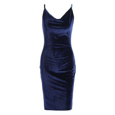 Spaghetti Strap Velvet Women Dress