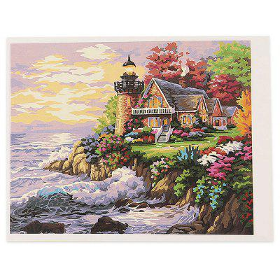 Buy COLORMIX Seaside Dream DIY Digital Oil Painting Art Wall Decor for $7.70 in GearBest store
