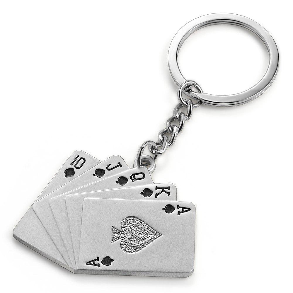 Personalized Playing Cards Style Keyring
