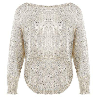 Bat Wing Sleeve Knitted Asymmetrical Women Sweater
