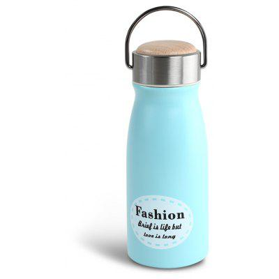 300ML Wood Cap Stainless Steel Vacuum Bottle Cup