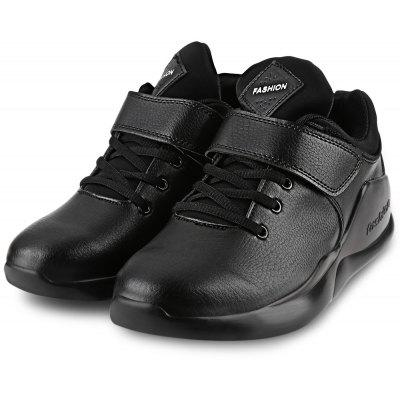 Magic Tape Lace Up Male Platform Sports Shoes