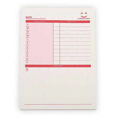 3 Tipo Business Notebook Elenco impegni Blocco note