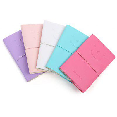 Multicolor Leather Cute Smile Face Notebook