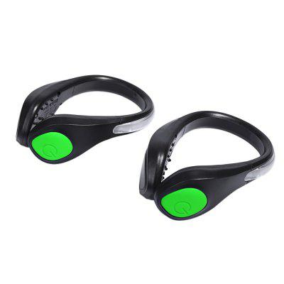 2pcs Luminous Warning Bright Shoe Clip LED Flash Light