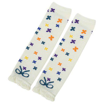 Fresh Style Floral Flounce Embellished Kneepads Socks for Baby