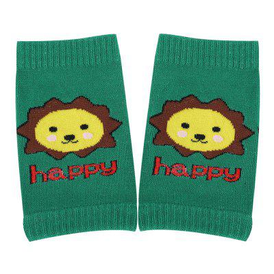 Cute Cartoon Print Knitted Candy Color Kneepads for Toddler Baby