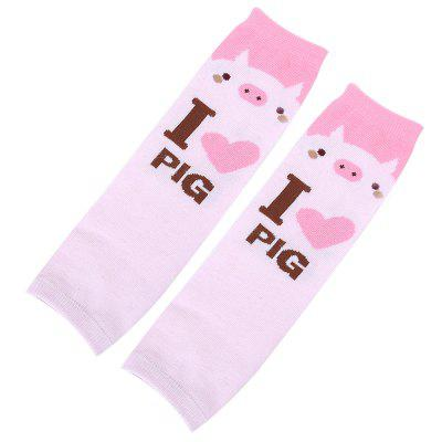 Cute Animal Print Candy Color Knitted Kneepads for Toddler Baby