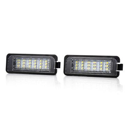 Pair of Car License Plate Lamp for Volkswagen