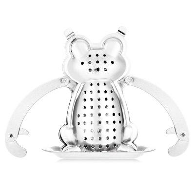 Stainless Steel Frog Shape Mesh Tea Infuser StrainerCoffee &amp; Tea Sets<br>Stainless Steel Frog Shape Mesh Tea Infuser Strainer<br><br>Coffee &amp; Tea Tools Type: Tea Infusers<br>Package Contents: 1 x Tea Infuser Strainer Filter with Tray<br>Package Size(L x W x H): 8.50 x 8.00 x 3.00 cm / 3.35 x 3.15 x 1.18 inches<br>Package weight: 0.057 kg<br>Product weight: 0.036 kg