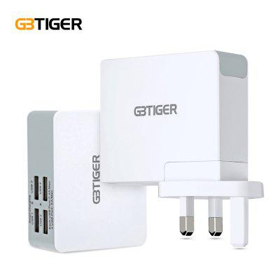 GBTIGER 4 USB 25W 5V 5A Quick Travel Charger Adapter