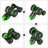 MKB 5 Wheels 360 Degree Rotating Control Stunt Car - GREEN