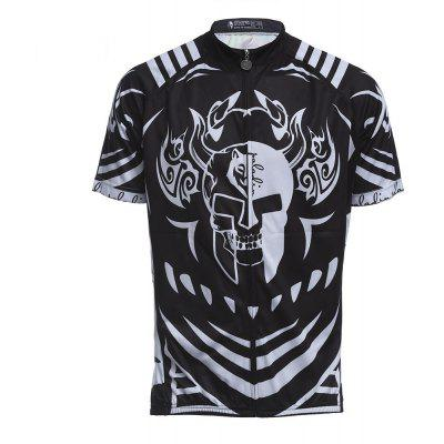 Breathable Cycling Skull Pattern Clothes Jersey Bike Wear