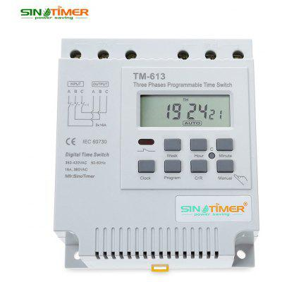 SINOTIMER 380V LCD Digital Multipurpose Three Phases Programmable Control Power Timer Switch