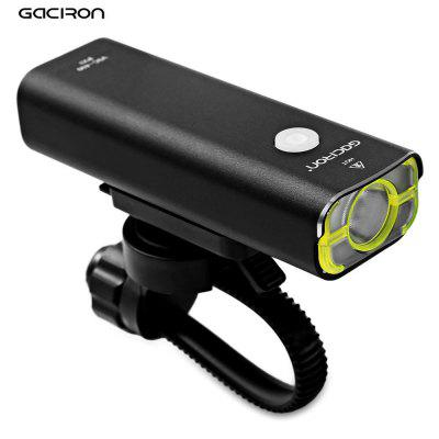 GACIRON USB Rechargeable Bike Front Flashlight HeadlightBike Lights<br>GACIRON USB Rechargeable Bike Front Flashlight Headlight<br><br>Mounting Placement: Frame,Handlebar<br>Package Contents: 1 x Light, 1 x Bracket, 1 x USB Cable<br>Package Size(L x W x H): 21.50 x 7.70 x 4.00 cm / 8.46 x 3.03 x 1.57 inches<br>Package weight: 0.2100 kg<br>Power Supply: Battery<br>Product Size(L x W x H): 10.00 x 3.40 x 3.00 cm / 3.94 x 1.34 x 1.18 inches<br>Product weight: 0.1150 kg