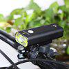 GACIRON V9 USB Rechargeable Bike Front Flashlight Headlight - BLACK