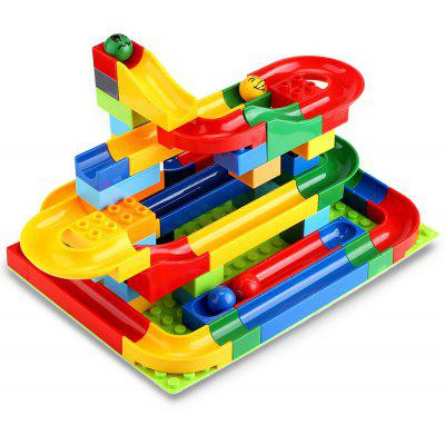 72pcs DIY Construction Marble Race Run stat Set
