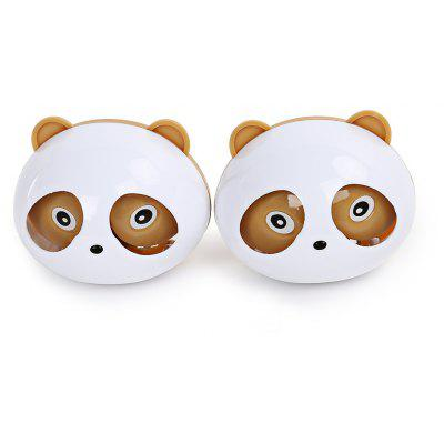 Buy BROWN Pair of Car Cute Panda Perfume Box Creative Decoration for $1.25 in GearBest store