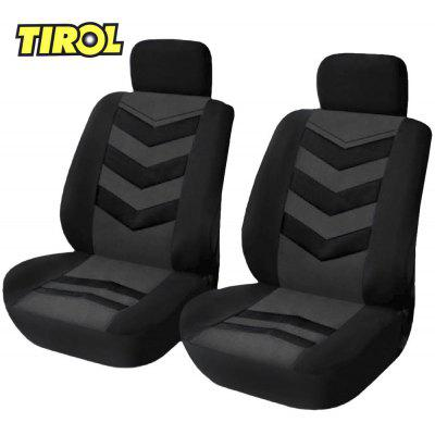 TIROL 4pcs Universal Car Front Seat Covers