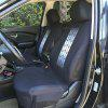 TIROL Universal Car Front Back Seat Cover - WHITE AND BLACK