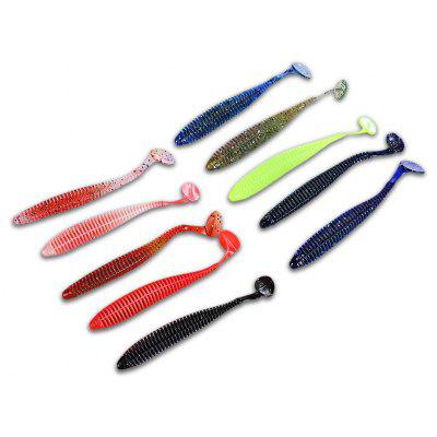 Proberos 10 colori Worm soft Fishing Lure Bait