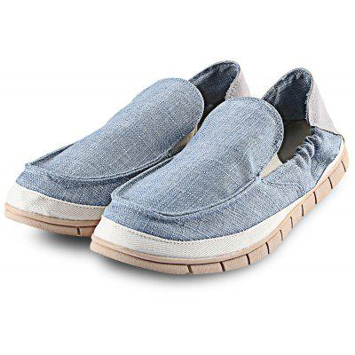Men Pure Color Simple Design Soft Outsole Casual Shoes