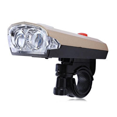 Bicycle Light with Horn USB Rechargeable Torch