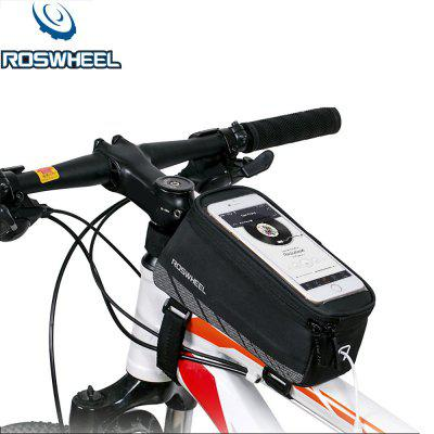 Roswheel Bike Front Tube Phone Bag roswheel 1 8l cycling front tube pannier 5 5 5 inch double bag pouch