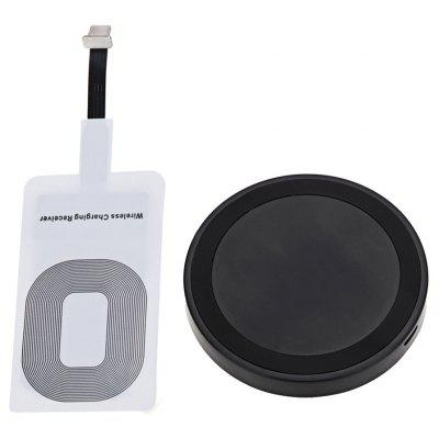 Qi Wireless Charger + Charging Receiver for iPhone