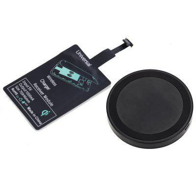 Qi Wireless Charger + Charging Receiver for Android reverse qi wireless charger pad universal wireless charger receiver for micro usb cellphone