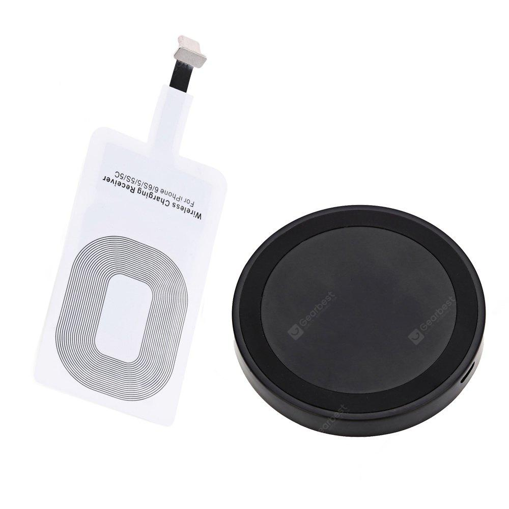qi wireless charger charging receiver for iphone. Black Bedroom Furniture Sets. Home Design Ideas