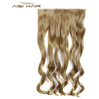 AISI HAIR Ponytail Simulated Loose Wavy Half Hair Wig