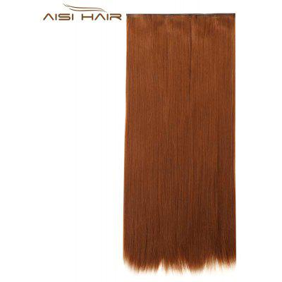 AISI HAIR Long Silky Straight 5 Clips in Hair Extensions