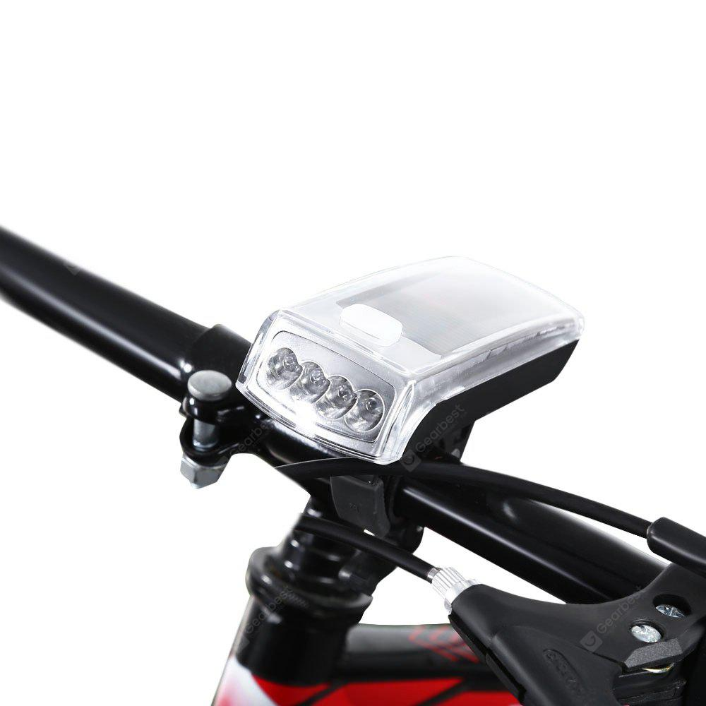 4-LED Solar Bicycle Head Light Front Rechargeable Torch