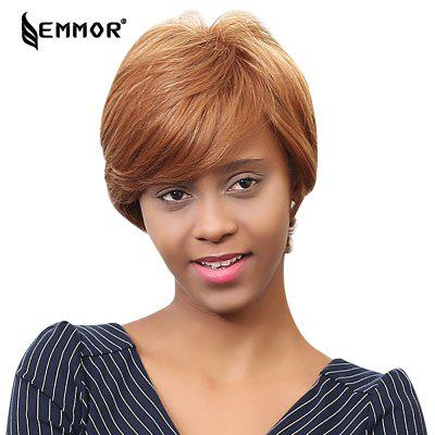EMMOR Short Human Hair Wigs