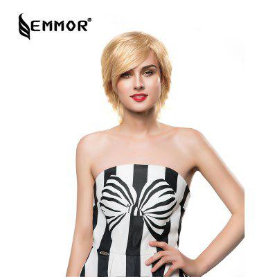 EMMOR Women Short Nature Anti-alice Human Hair Wigs