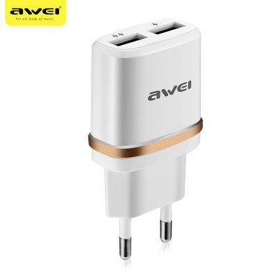 Awei C - 930 2 USB 5V Multifunctional Travel Adapter EU Plug