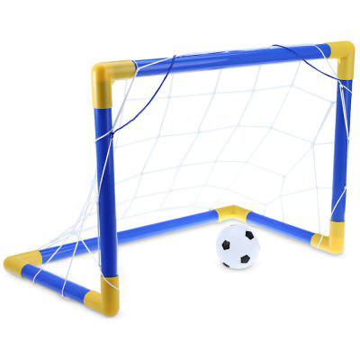 Mini Conjunto de Futebol Trave do Gol e Bomba para Encher Bola